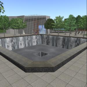9/11 memorial in Littlefield