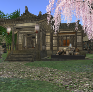 Song Dynasty style tea house in the Chinese Scholar's Garden on Qoheleth in Second Life