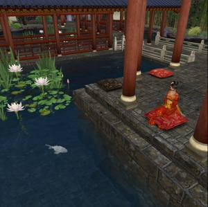 Meditating at the Water Pavilion in the Chinese Scholar's Garden on Qoheleth in Second Life