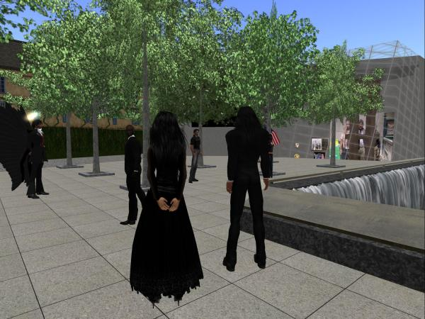 Littlefield Grid members observing the day together at the 9-11 Memorial